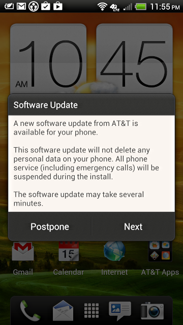 android update notice