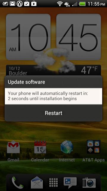 HTC One Vx firmware update