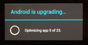 Android is updating mesage
