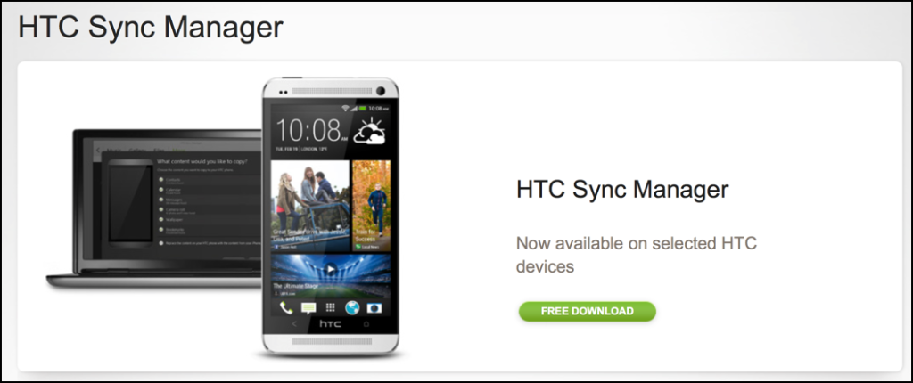 htc sync manager mac