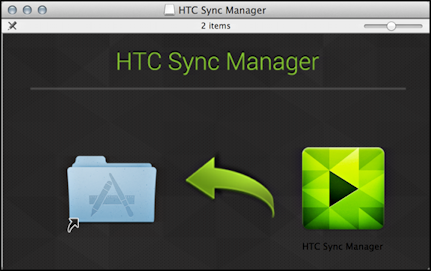 install HTC Sync Manager for Mac on a Macintosh