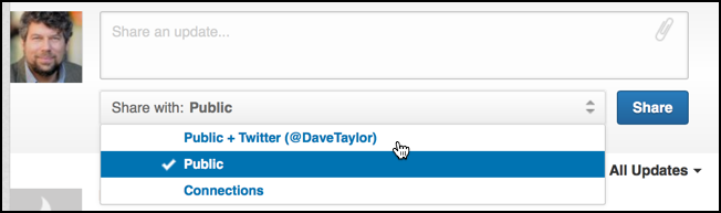 how to add linkedin link to twitter