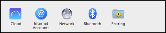 Choose Bluetooth from the System Preferences window...