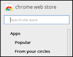 google chrome web app extension store