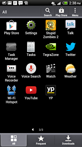 Android HTC app icons