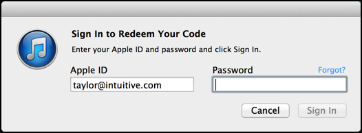 confirm login itunes account store