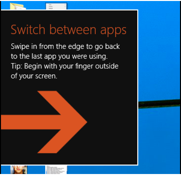 switch between apps pop-up tip help wiindow