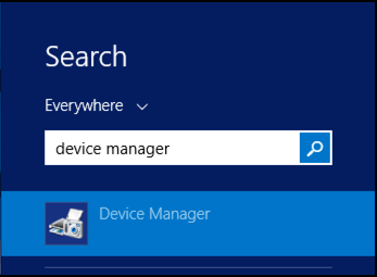win8 search device manager