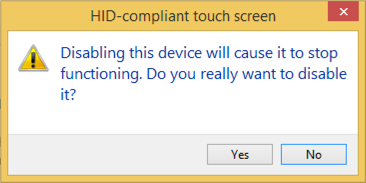 confirm disable touch screen device