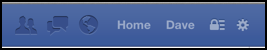 facebook nav bar, right side