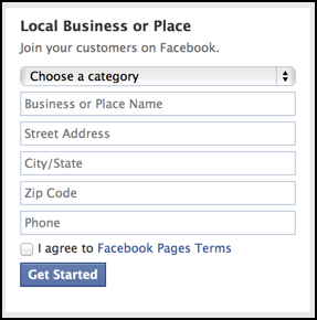 create local business page