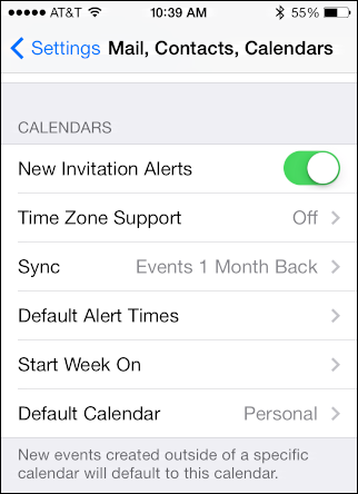 How to change timezone on calendar iphone