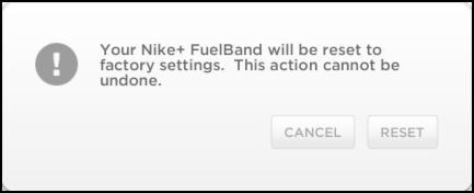 nike fuelband factory reset
