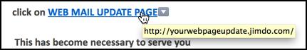 bogus link displayed in apple mail