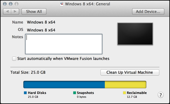 reclaim vm disk space