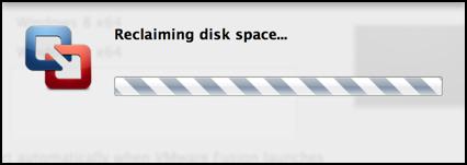 reclaiming disk space mac windows