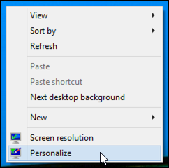 windows 8 desktop context menu