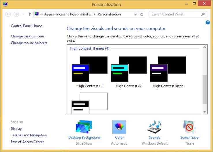 personalize windows 8 win8
