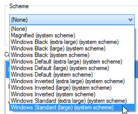 cursor schemes in microsoft windows 8