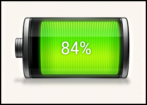 battery usage icon - android droid