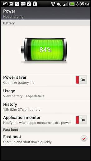 battery data on Android phone, with some useful tweaks