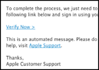 apple id / itunes account phishing scam