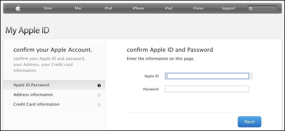 phishing but legit looking apple id login screen