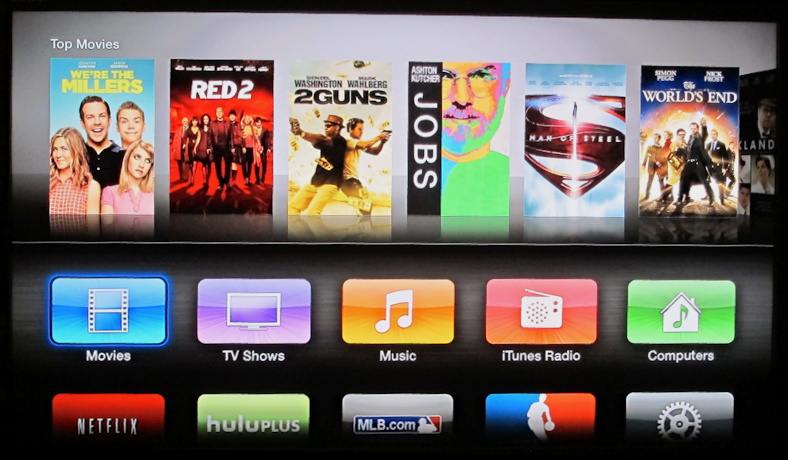 Apple TV top level menu