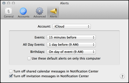 ical apple calendar preferences customization settings