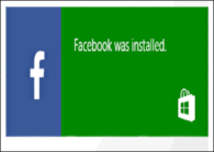 facebook installed on windows 8.1 tablet