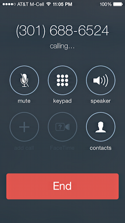 dialing NSA number in phone app ios7