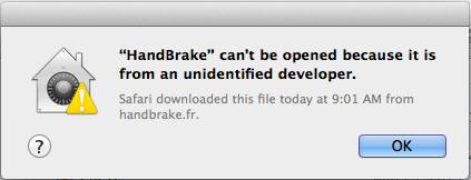 app can't be open unidentified developer message