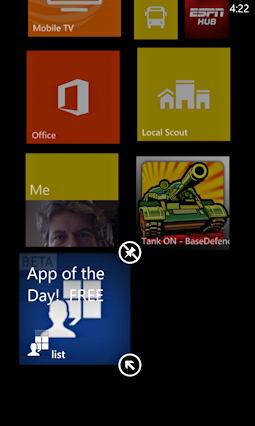 new app tile added to start screen windows phone 8