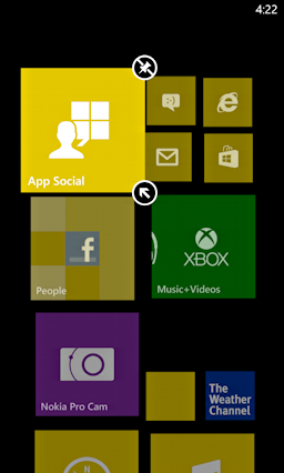 start tile screen windows 8 phone customize