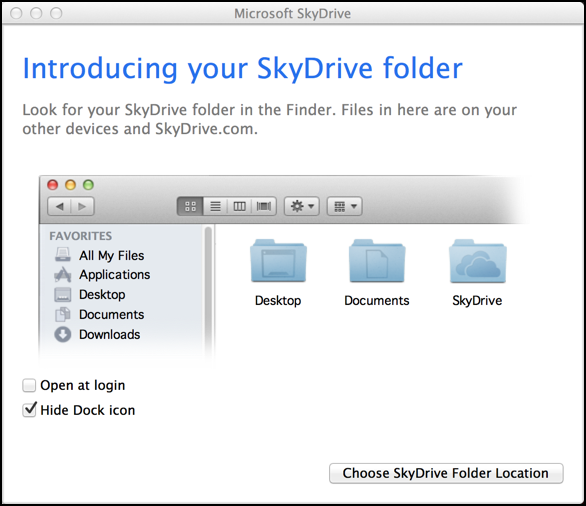welcome to skydrive mac