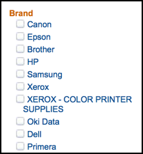 favorite vendors for color printer