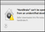 unidentified app cannot be opened mac os x