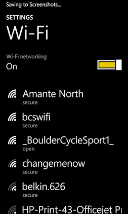 list of available wifi networks