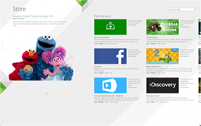Windows 8.1 Win8 App Store
