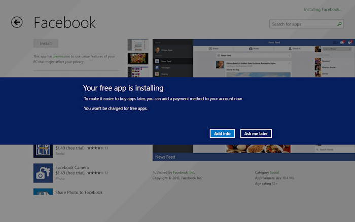 are you sure you want to install facebook on your tablet?