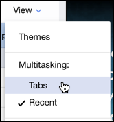 Yahoo Mail - View - Themes - Tabs