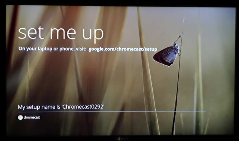 set me up - google chromecast
