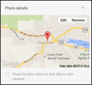 geotagged photo map with author edit options