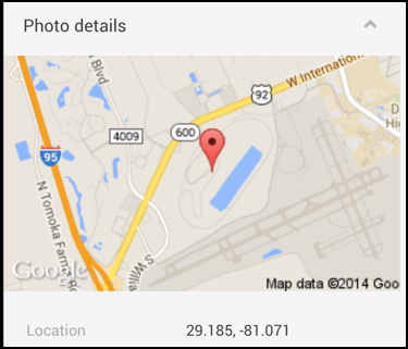 geolocation map identifying photo location in google plus