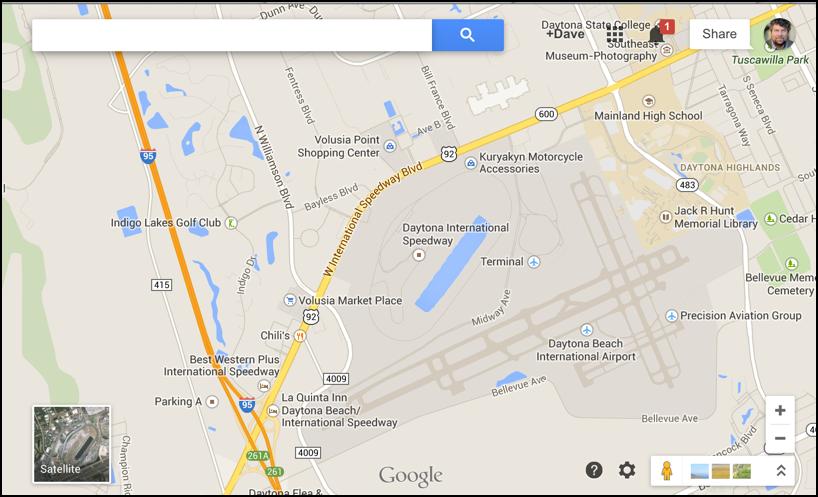 daytona international speedway, daytona fl, in google maps
