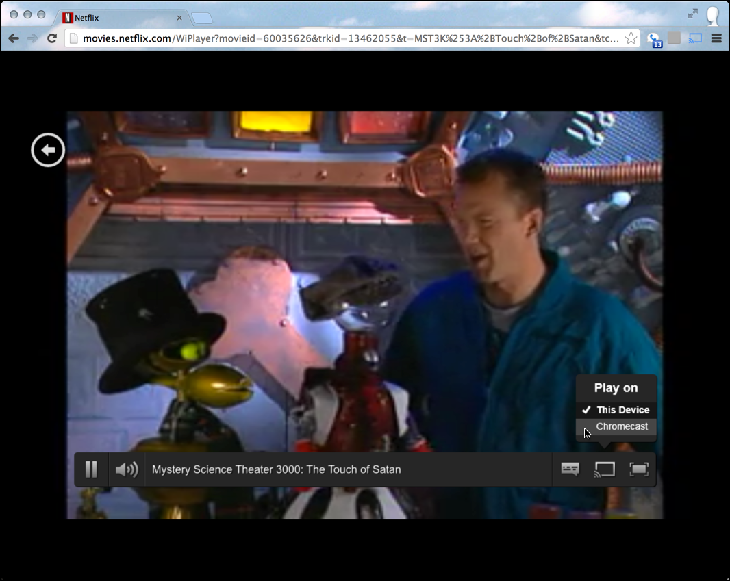mst3k mystery science theater 3000 from netflix in google chrome