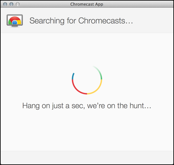 chromecast setup on apple mac