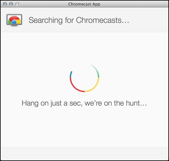chromecast setup on apple mac