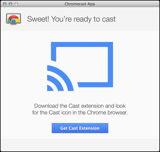 chromecast device set up to work with mac os x macintosh system