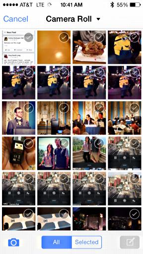 iphone photo album in facebook app